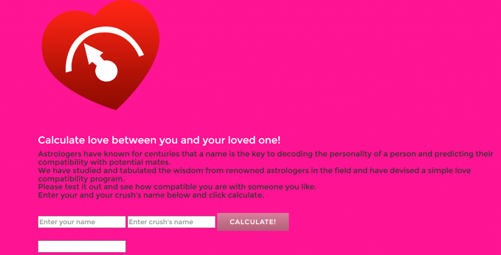 prank love calculator
